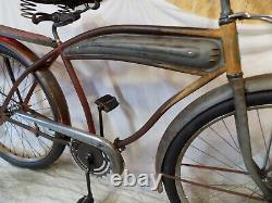 1930s ELGIN PREWAR MENS TANK BIKE RAT ROD JC HIGGINS SCHWINN TWIN 1939 VINTAGE