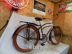 1937 Hawthorne Prewar Eagle Zep Fastback Bike Cwc Schwinn Vintage Elgin Rat Rod