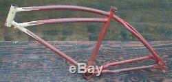 1939 Prewar Schwinn DX Bicycle Springer Fork FRAME Vintage Klunker Cruiser Bike