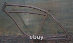 1940 Prewar Schwinn DX Bicycle FRAME Rat Rod Vintage Klunker Cruiser Tank Bike