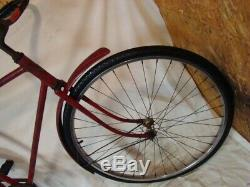 1940s SCHWINN NEW WORLD RACER BICYCLE VINTAGE WWII BLACKOUT SUPERIOR TRAVELER 40