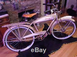1941 Vintage Schwinn Prewar BA-107 Autocycle Bicycle Restored