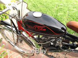1947 Whizzer H Motor On An Vintage Schwinn Bicycle Restored