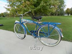 1948 Schwinn B6 Autocycle Tank Bike Vintage Streamliner/phantom Hornet DX B607