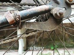 1948 Schwinn PACKARD Autocycle TANK BIKE 26 vtg Bicycle, Just Found in Basement