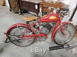 1948 Whizzer J Motor On An Vintage Schwinn Bicycle