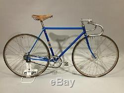 1950's Schwinn Paramount Track Bicycle Blue Vintage Original Paint Brooks