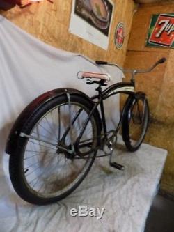 1950s COLSON COMMANDER MENS VINTAGE CRUISER TANK LOOPTAIL BICYCLE SCHWINN G3 53