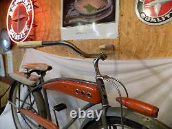 1950s JC HIGGINS MENS TANK BIKE VINTAGE COLORFLOW ELGIN SCHWINN DELUXE SKIPTOOTH
