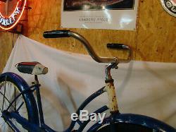 1950s SCHWINN HORNET LADIES VINTAGE BICYCLE BLUE PANTHER TYPHOON SPITFIRE B6 S2