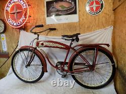 1952 Schwinn DX Mens Spitfire Tank Bicycle Hornet B6 Excelsior Vintage Skiptooth