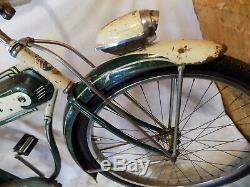 1952 Schwinn Hornet Mens Straight Bar Bf Goodrich Tank Bike Vintage Panther S2