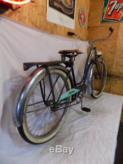 1952 Schwinn Panther Ladies Vintage Blue Cruiser Bicycle Springer Phantom S2 50s