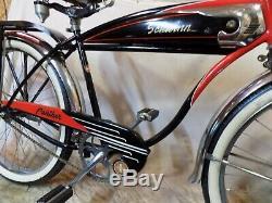 1952 Schwinn Panther Mens Straightbar Tank Bike Vintage Hornet Deluxe Phantom S2
