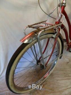 1955 Schwinn Corvette Ladies 3-speed Vintage Cruiser Bicycle Typhoon S7 Tiger 58