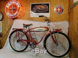 1955 Schwinn Hornet/spitfire Mens Straight Bar Tank Bike Vintage Panther B6 S2