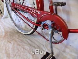 1960 Schwinn Tiger 2-speed Vintage Bicycle Typhoon S7 American Corvette Bike S7