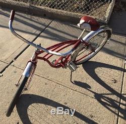 1960's SCHWINN TYPHOON Bicycle Red 24 Antique Vintage. LOCAL PICK UP NYC
