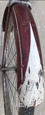 1961 August 29th Mens Schwinn Tiger Original Red Paint Vintage Bicycle