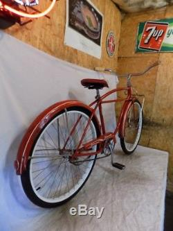 1962 Schwinn Tornado Straightbar Mens Bicycle Red Vintage Typhoon S7 American 60