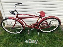 1962 Schwinn Typhoon Red 26 Vintage