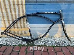 1963 Schwinn American Bicycle Frame Vintage Rare Black Middleweight