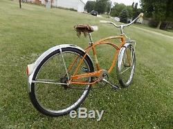 1963 Schwinn Corvette Mens 2-speed Coppertone Bicycle Vintage Chevy Typhoon+rack