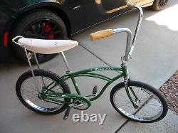 1964 April Schwinn Green Stingray Vintage Muscle Bicycle Center Stamp Wheels