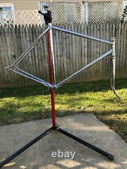 1966 Vintage Chrome Schwinn Paramount Bike Frame and Fork
