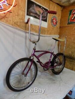 1967 Schwinn Deluxe Stingray Boys Violet/purple Muscle Bike Vintage S2+slik