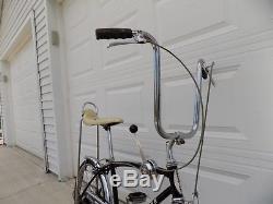 1967 Schwinn Fastback Stingray 5-speed Stik Shift Muscle Bike Black S5 Vintage