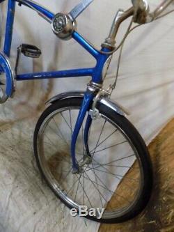 1967 Schwinn Fastback Stingray 5-speed Stik Shift Muscle Bike Blue S5 Vintage