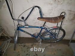 1967 Schwinn Stingray Fastback 5 Speed Stik Shift Blue bicycle Bike vtg old