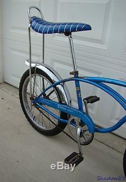 1968 Schwinn Stingray Boys Blue Banana Seat Muscle Bike S2 Early Krate Vintage
