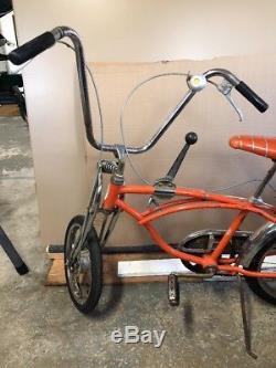 1968 Schwinn Orange Krate Sting-Ray bicycle, vintage muscle bike, Stingray crate