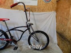 1968 Schwinn Stingray Banana Seat Rat Rod Muscle Bike Springer Slik Vintage