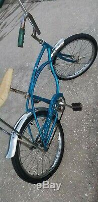 1969 Schwinn Sting Ray Original blue, krate, vintage s7 gripper slik