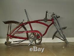 1969 Schwinn Stingray Apple Krate 5 Speed all Original red s2 s7 vintage
