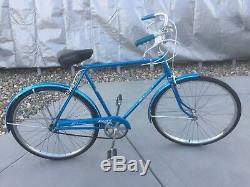 1969 Vintage Mens Schwinn Blue Racer Bicycle