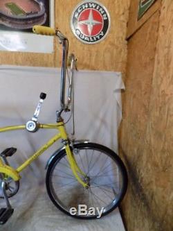1970 Schwinn Fastback Stingray 3-speed Yellow Muscle Bike Krate Vintage Bicycle