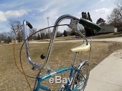 1970 Schwinn Fastback Stingray 5-speed Stik Shift Muscle Bike Blue S5 Vintage