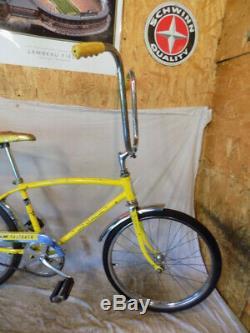 1970 Schwinn Fastback Stingray Muscle Bike S5 Slik Lemon Peeler Yellow Vintage