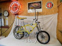 1970 Schwinn Lemon Peeler Krate Muscle Bike Vintage Stingray 5-speed Stik S2 70