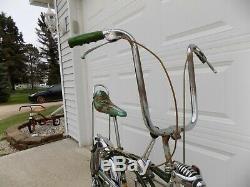 1970 Schwinn Pea Picker Krate Bike Vintage Stingray Banana Seat Stik S2 Muscle