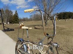 1971 Schwinn Cotton Picker Krate Bike Vintage Stingray Banana Seat Stik S2 Atom
