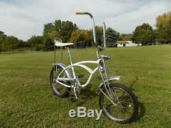 1971 Schwinn Cotton Picker Krate Vintage Stingray Banana Seat Bike S2+springer