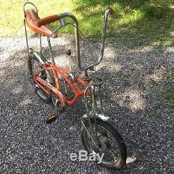 1971 Schwinn Orange Krate Bicycle Vintage 5-speed Stick Springer Muscle