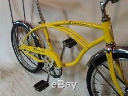 1971 Schwinn Stingray Boys Kool Yellow Banana Seat Muscle Bike Vintage S7 Slik