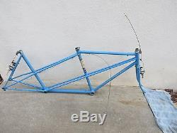 1972 SCHWINN 57 cm 56 cm rear PARAMOUNT FRAME FORK ROAD BICYCLE TANDEM VINTAGE