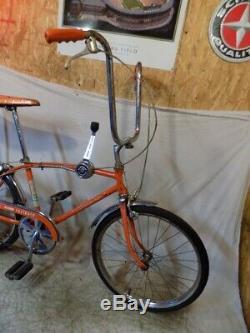 1972 Schwinn Fastback Stingray 5-speed Muscle Bike Krate Vintage Orange Stik S5